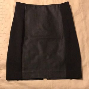 Express vegan leather and knit Mini Skirt 00 NEW